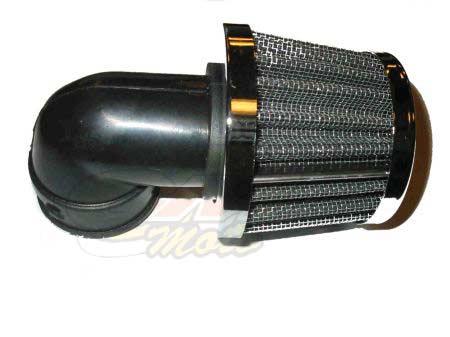 Filtro Aria Metallo inclinato 90' diametro 35- Ricambi e Accessori Moto