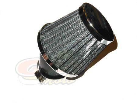 Filtro Aria Metallo inclinato 45' diametro 35- Ricambi e Accessori Moto
