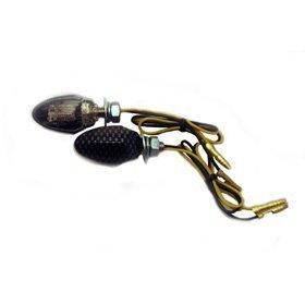 Frecce ONE Micro Carbon Look Led omologate- Ricambi e Accessori Moto
