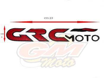 Patch con scritta GRC Moto Misura cm 23 x 4- Ricambi e Accessori Minimoto