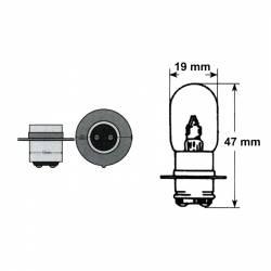 Lampada 12V 35/35W PX15D-T19- Ricambi e Accessori Moto