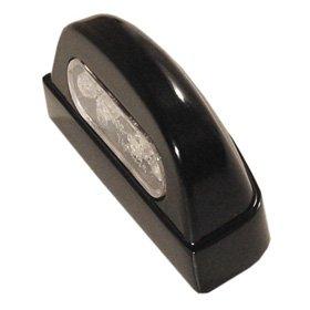 Fanalino Luce Targa ONE in metallo Nero a Led omologato- Ricambi e Accessori Moto