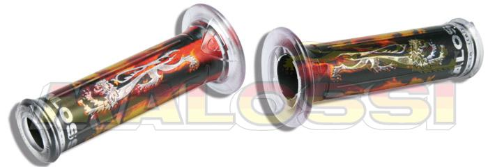 6913507C0 Manopole Malossi Cromate con logo Leone- Ricambi e Accessori Moto