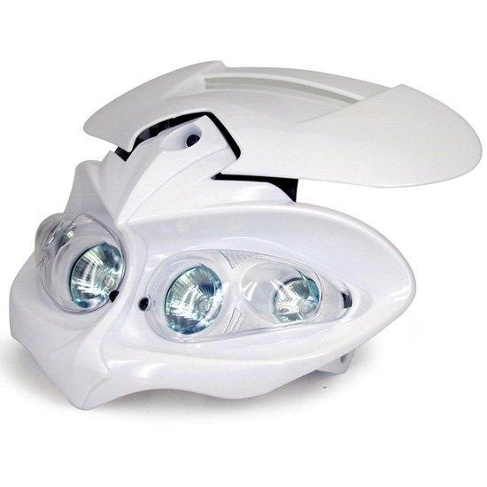 Maschera Faro ONE Mod. MANGA Cross-Eunduro Colore Bianco- Ricambi e Accessori Motocross Motard