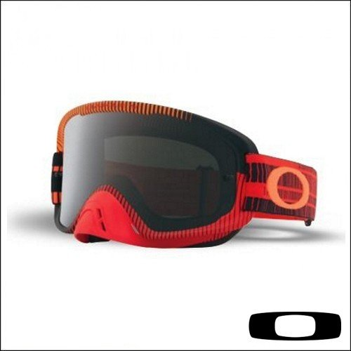 Maschera Cross OAKLEY O FRAME MX 2.0 Red-Orange lente Dark/Grey- Abbigliamento e Accessori Moto Motocross