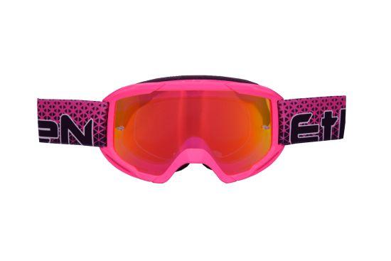 Maschera Cross ETHEN OTG06 Middle Pink Printed- Abbigliamento e Accessori Moto Motocross
