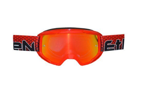 Maschera Cross ETHEN OTG06 Middle Red Printed- Abbigliamento e Accessori Moto Motocross