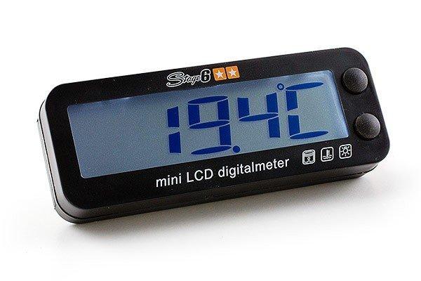 S6-4031 Contagiri con Termometro Stage6 MKII illuminatu blu- Ricambi e Accessori Moto