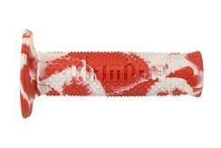 Manopole Domino OFF Road Snake Rosso-Bianco- Ricambi e Accessori Moto