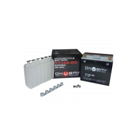 Batteria OKYAMI YT14B-BS- Ricambi e Accessori Moto