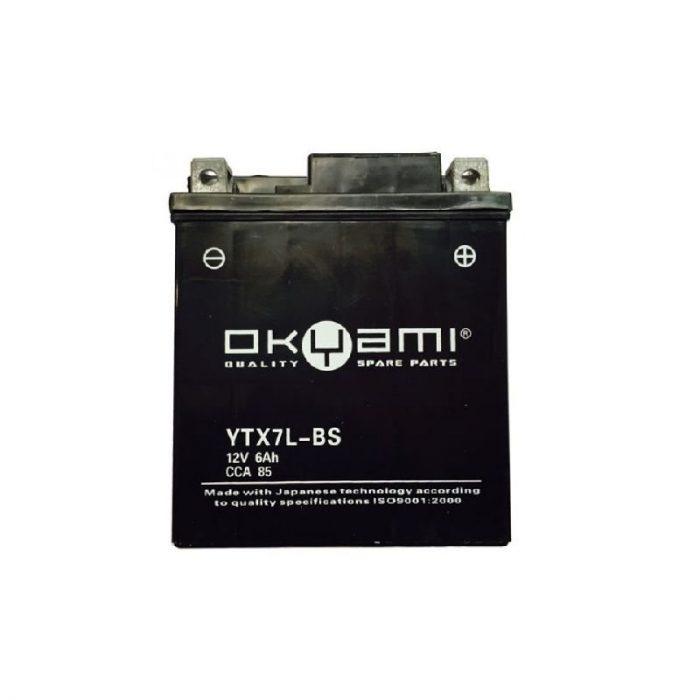 Batteria OKYAMI OTX7L-BS- Ricambi e Accessori Moto