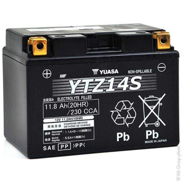BATTERIA YUASA YTZ14S PRECARICATA SIGILLATA- Ricambi e Accessori Moto